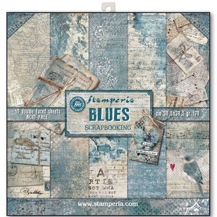 Stamperia Paperpad Blues 12 inch