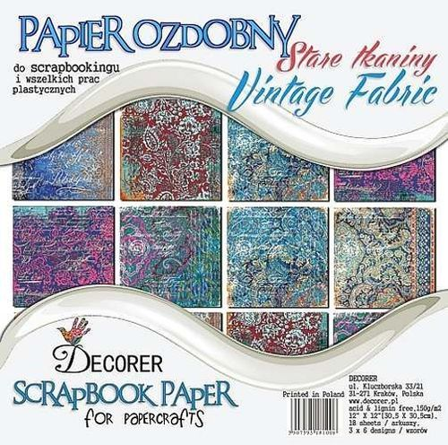 Decorer Paperpad Vintage Fabric 12 inch