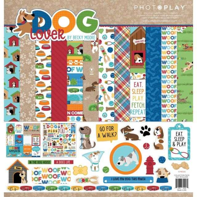 Photoplay Dog Lover Collection pack 12 inch.
