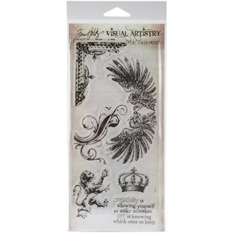 SA Tim Holtz Clear Stamp Regal Flourish