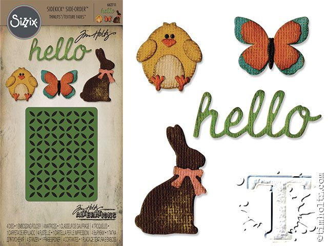 Sizzix Sidekick Side-Order Thinlits Springtime