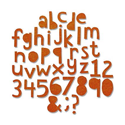 Sizzix Thinlits Alphanumeric cutout Lower (3/4 inch tall)