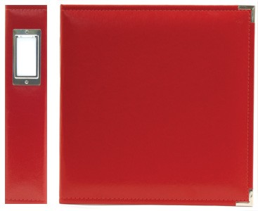 WMK 3-ring album classic leather Real Red 12inch