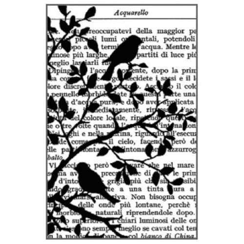 Stamperia Cling Stamp Birds in Tree