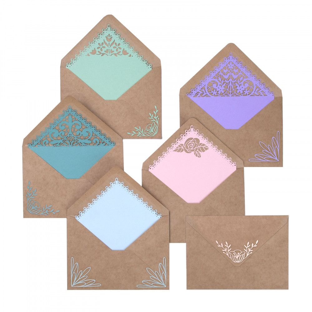 Sizzix Thinlits Envelope Liners, A7, Intricate