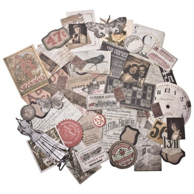 Tim Holtz Ephemera Pack Thrift Shop 54 pieces