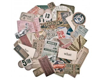 Tim Holtz Ephemera Pack Expedition 63 pieces