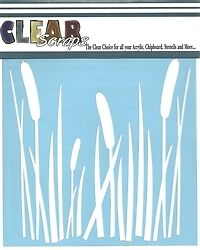 CS Stencil Cattails 6 inch