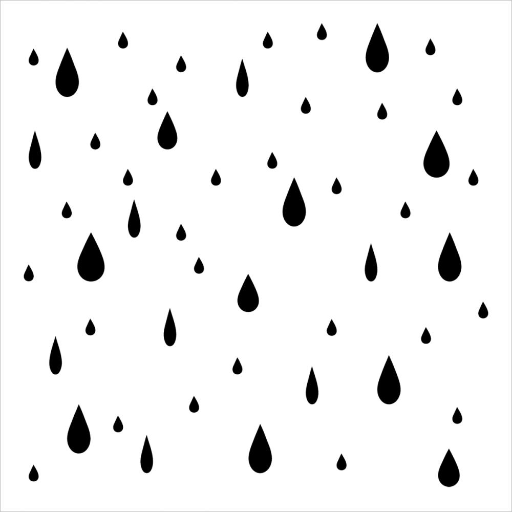 CW Raindrops 12 inch template