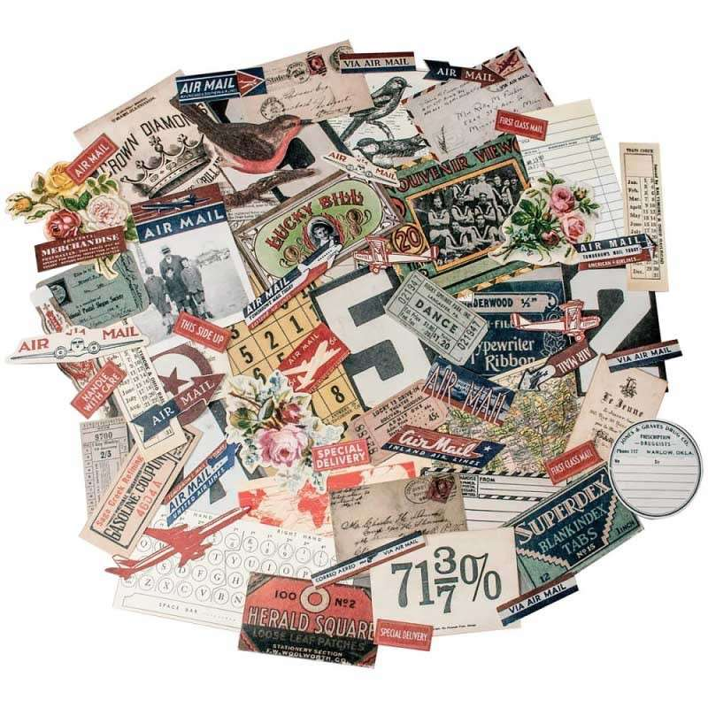 Tim Holtz Ephemera Pack Emporium 70 pieces