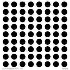 CW Circle Grid 6x6 inch template