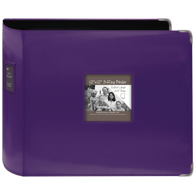 Pioneer 3-ring Album Purple 12 inch with extra large rings