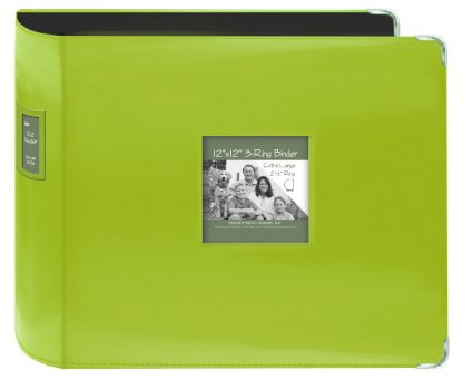 Pioneer 3-ring Album Lime 12 inch with extra large rings