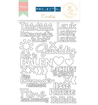 MD Project NL Chipboard Set Emoties