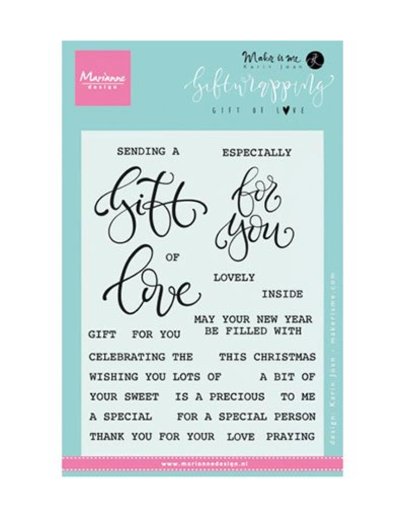 MD Clear Stempel Gift of Love