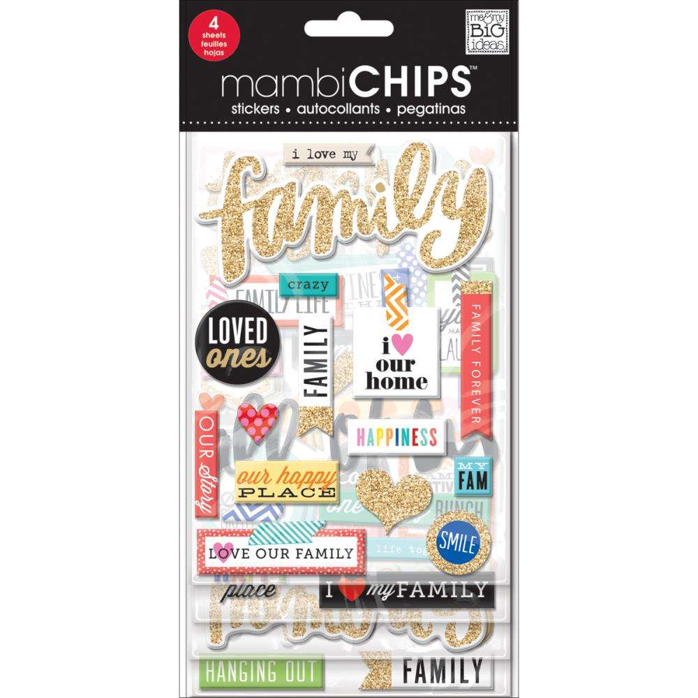 Mambi Chipboard Value Pack I love my Family