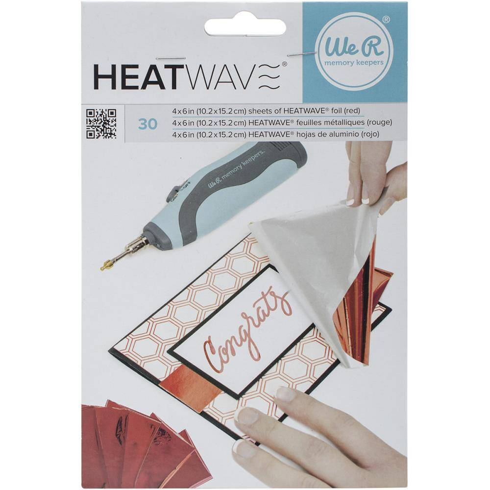 WMK Heatwave Foil Sheets Red