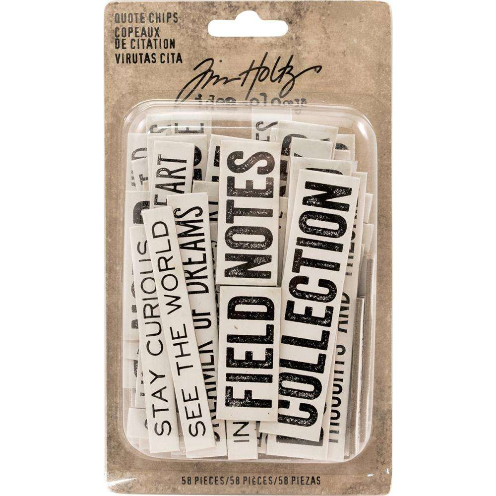 Tim Holtz Idea-Ology Chipboard Quote Chips.