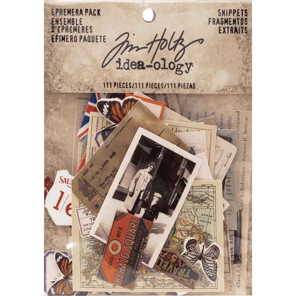 Tim Holtz Idea-Ology Snippets Ephemera Pack.