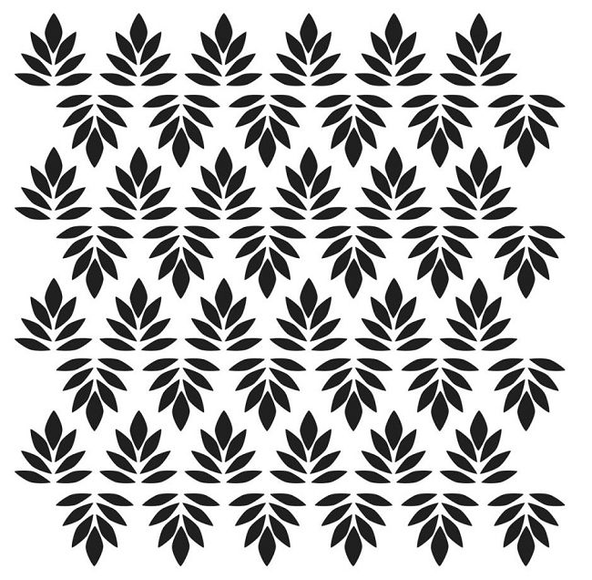CW Mini Indian Leaves 6x6 Template