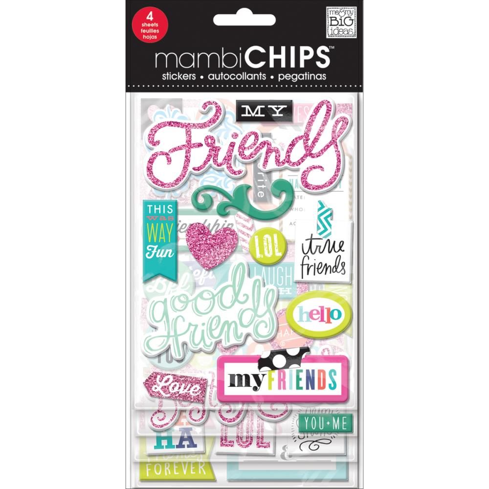 Mambi Chipboard Value Pack Good Friends