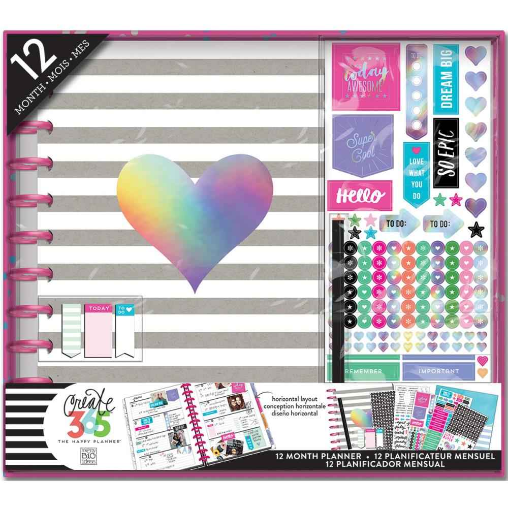 Mambi Create 365 The Happy Planner Box Kit Rainbow Foil.