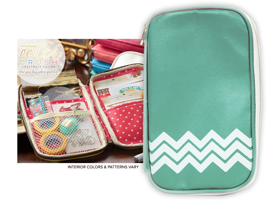 Websters Pages Color Crush CraftMate Folio Light Teal