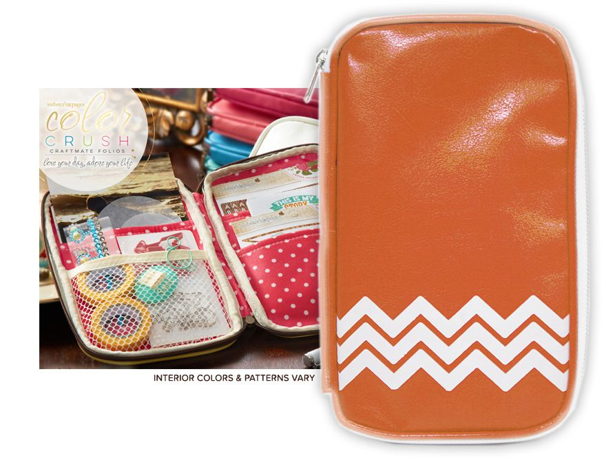 Websters Pages Color Crush CraftMate Folio Caramel