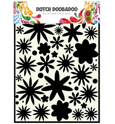 DD Stencil Flower Power  A4
