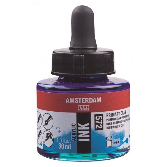 Amsterdam Acrylic Ink Primary Cyan