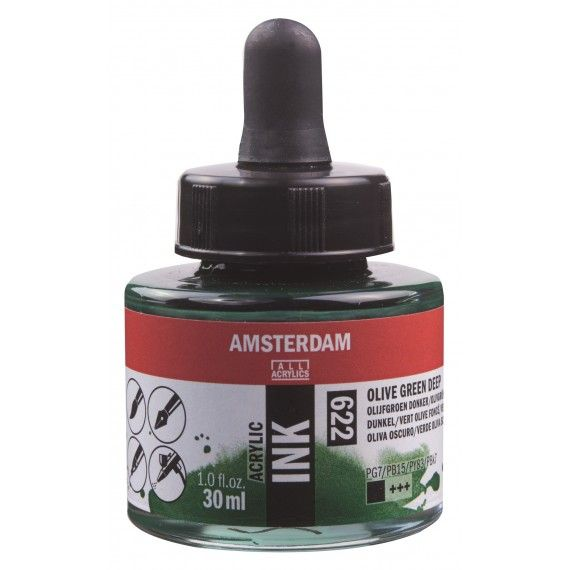 Amsterdam Acrylic Ink Olive Green Deep