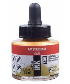 Amsterdam Acrylic Ink Light Gold