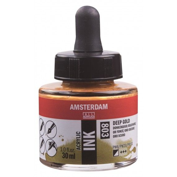 Amsterdam Acrylic Ink Deep Gold