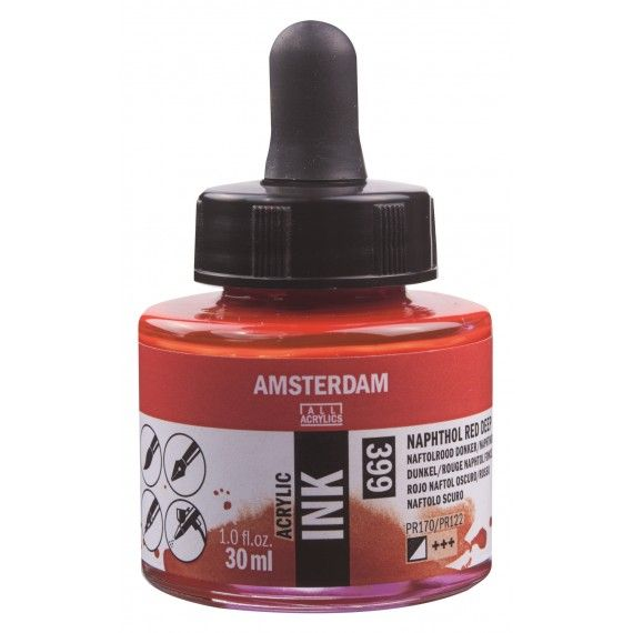 Amsterdam Acrylic Ink Naphthol Red Deep