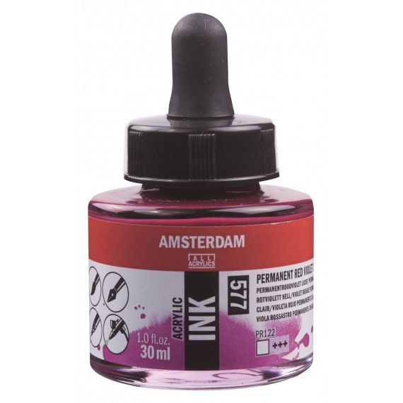 Amsterdam Acrylic Ink Permanent Red Violet Light