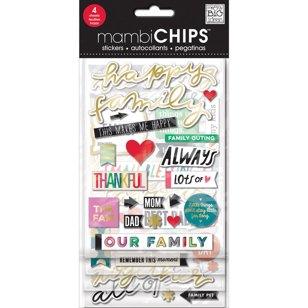 Mambi Chipboard Value Pack Happy Family