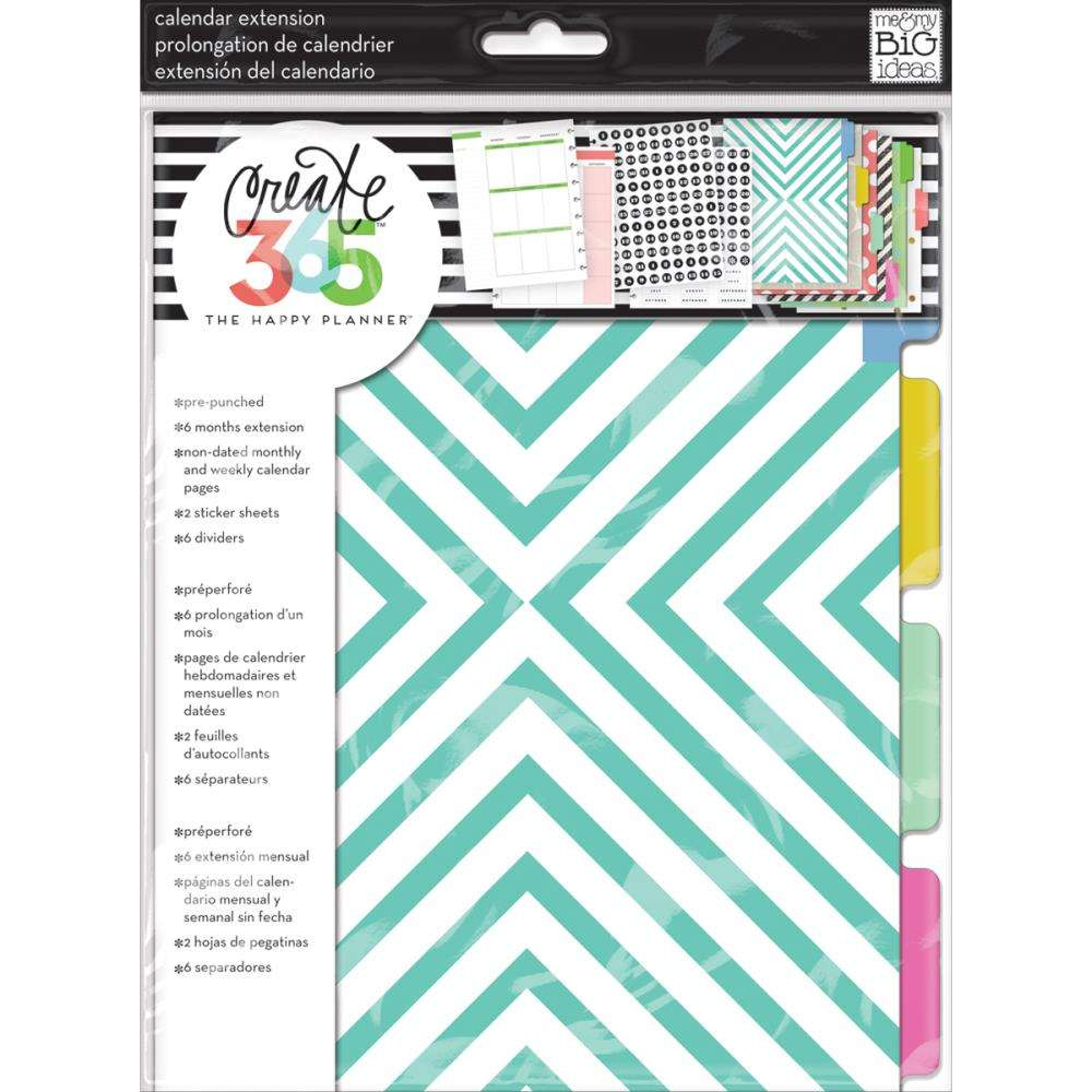 Mambi Medium Planner Extension pack Teal Month