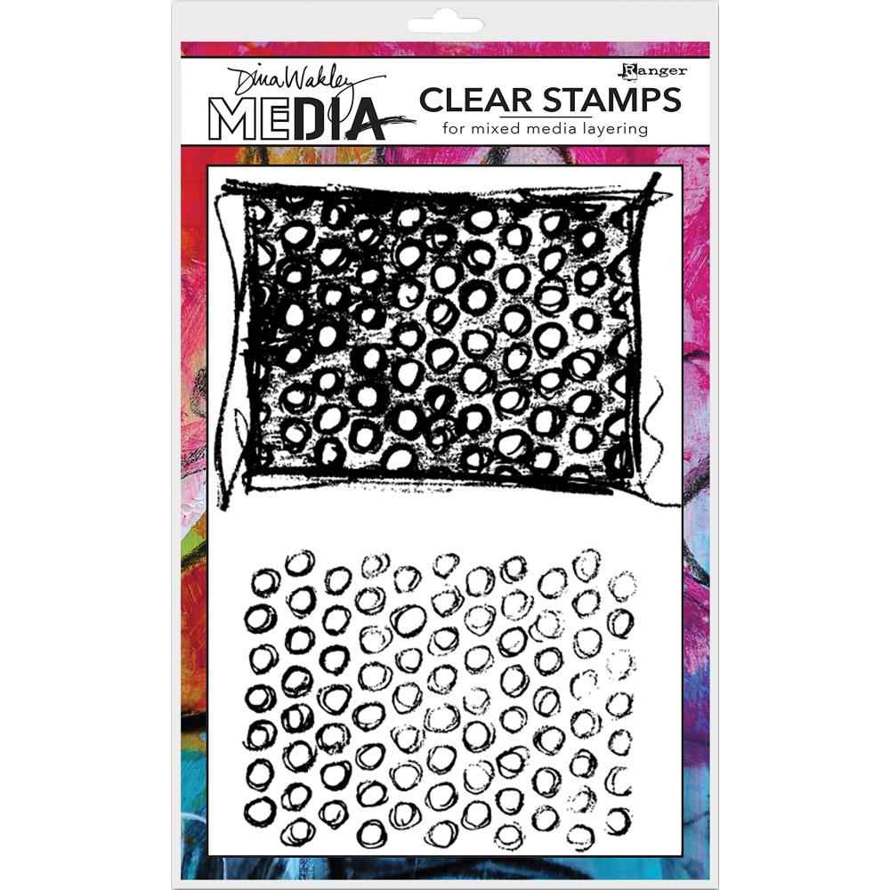 Ranger Dina Wakley Clear Stamps Scribbly Circles