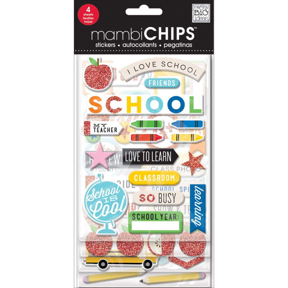 Mambi Chipboard Value Pack I love School