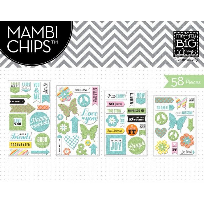 Mambi Chipboard Value Pack You are Awesome