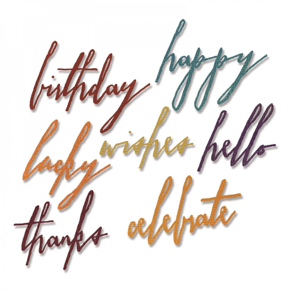 Sizzix Thinlits Handwritten Celebrate