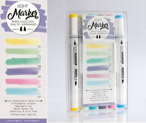 SL Water Based Dual Tip Markers Pastel Collection.