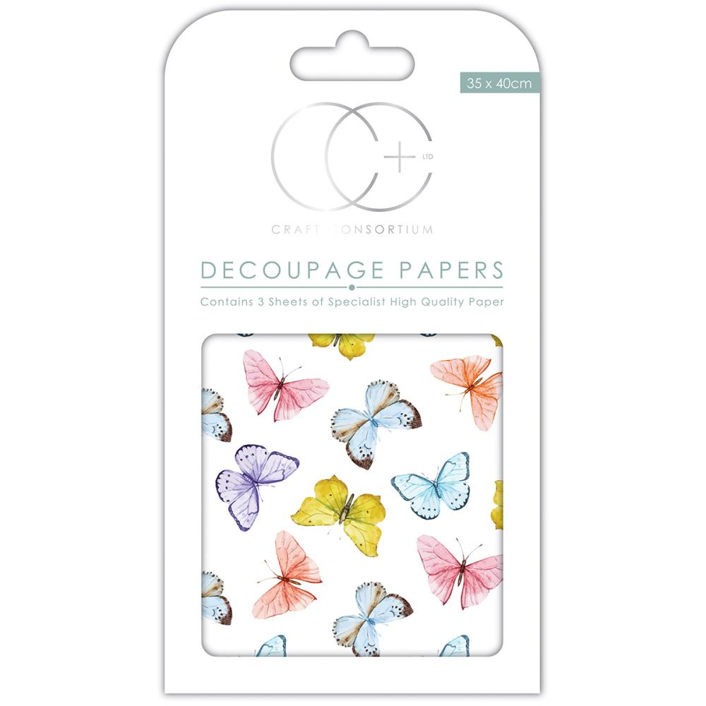 CC Decoupage Papers Kaleidoscope of Butterflies