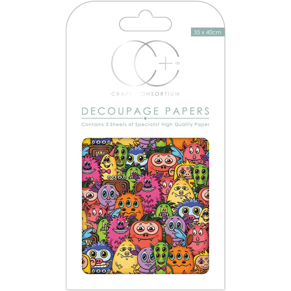 CC Decoupage Papers Little Monsters