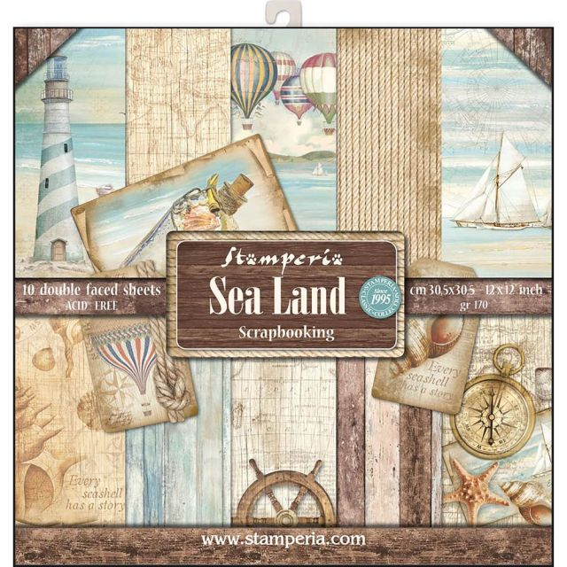 Stamperia Paperpad Sea Land 12 inch
