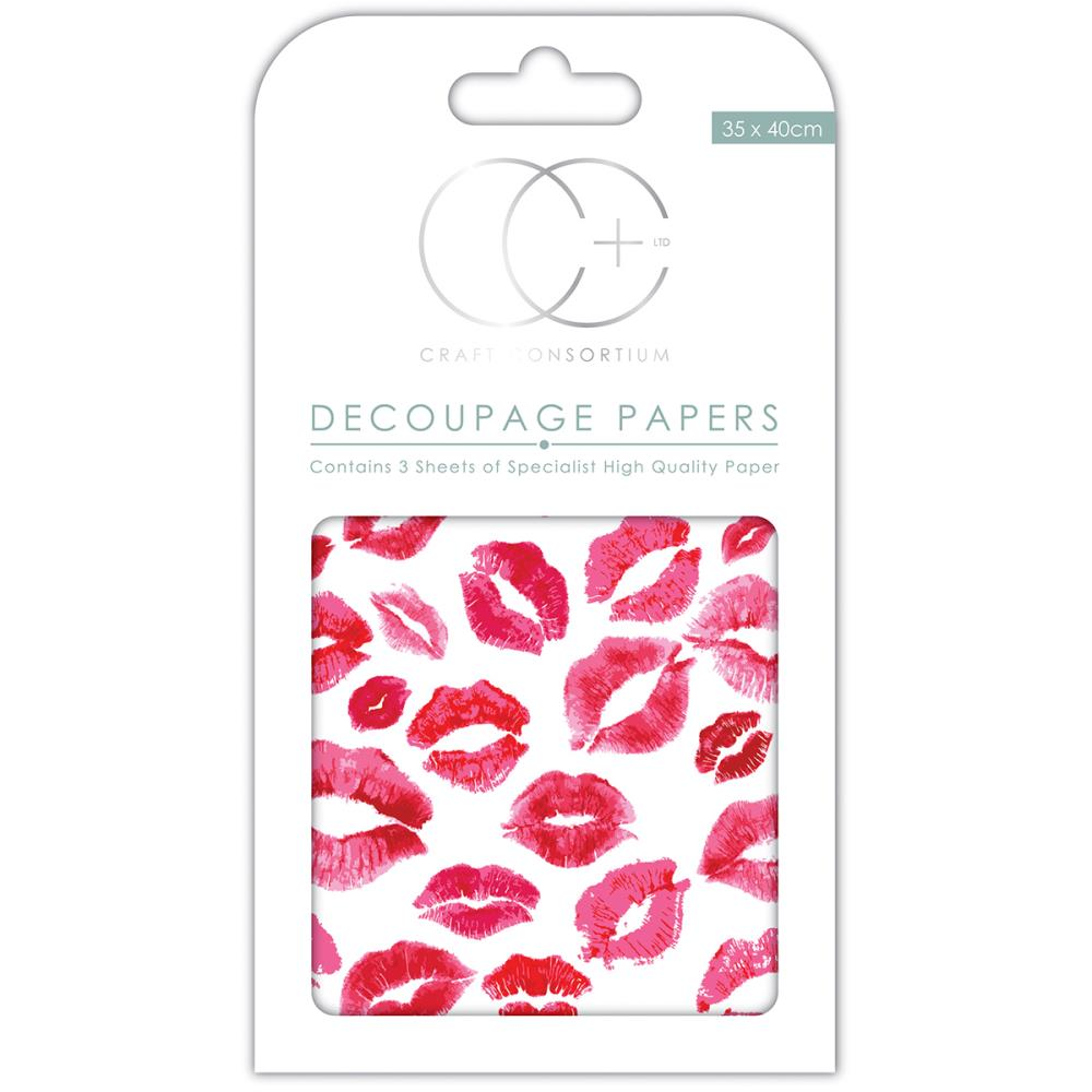 CC Decoupage Papers Kisses for You