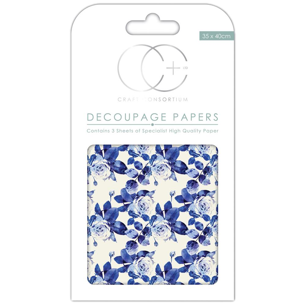 CC Decoupage Papers Floral Porcelain