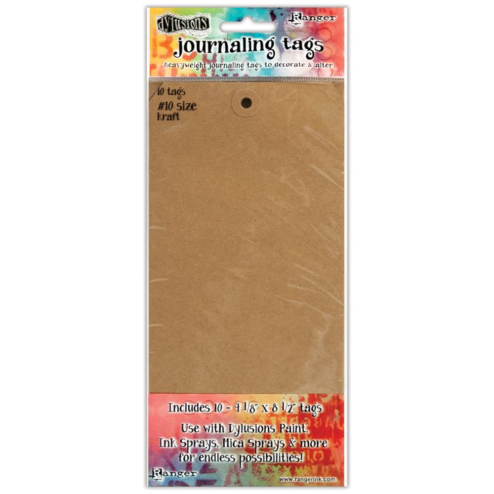 Dylusions Kraft Journal Tags  #10