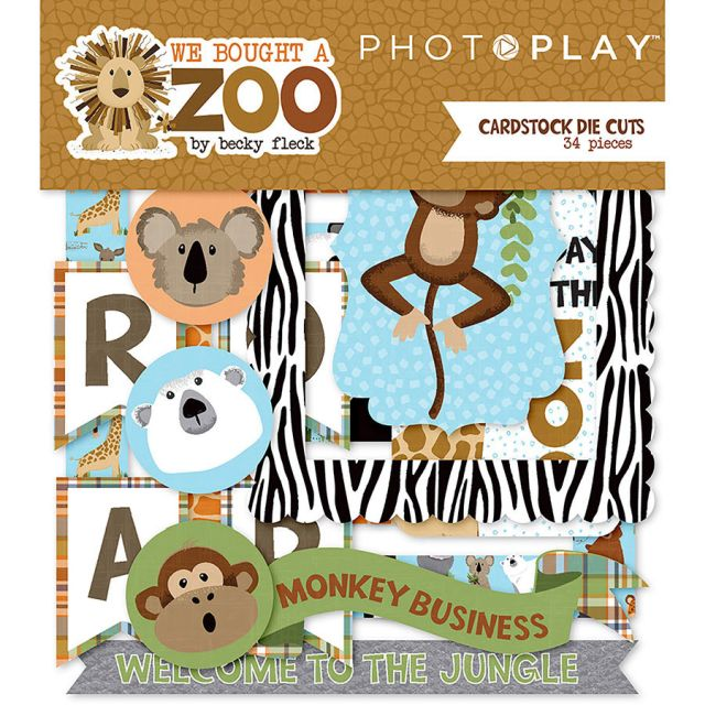 PhotoPlay We Bought a Zoo Cardstock Die Cuts