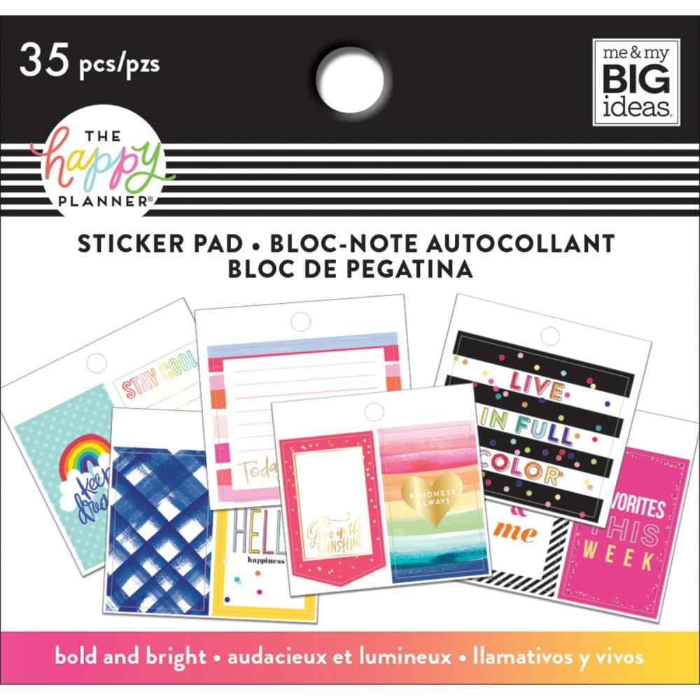 Mambi Planner Tiny Sticker Pad Bold and Bright